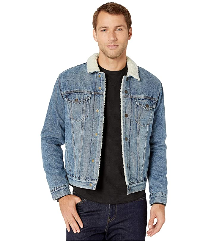 Lucky Brand  The Sherpa Trucker Jacket (Willow Street Sherpa) Mens Clothing