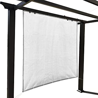Alion Home Sun Shade Panel Privacy Screen with Grommets on 4 Sides for Outdoor, Patio, Awning, Window Cover, Pergola (6' x 8', White)