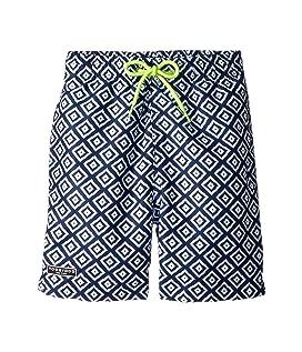 Blue White Patterned Swim Shorts (Infant/Toddler/Little Kids/Big Kids)