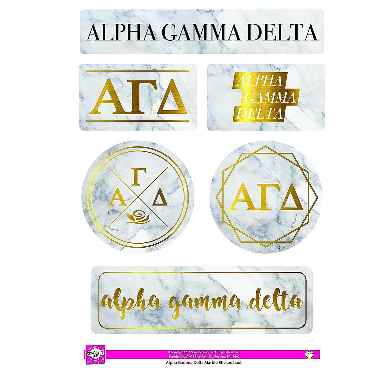 Alpha Gamma Delta - Sticker Sheet - Marble Theme