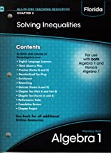 Solving Inequalities Algebra 1 Florida Chapter 3 (All-In-One Teaching Resources)