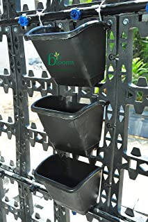 BIO BLOOMS AGRO INDIA PRIVATE LIMITED Home Garden Vertical Pot 4 Panel X 12 Pots (Set of 4) You Have to Fix on Your Own Bi...