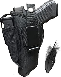 Feather Lite Fits Hi-Point 45 ACP, 40 SW-B Soft Nylon Inside or Outside The Pants Gun Holster.