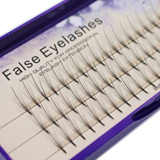 Scala 8-16mm to Choose 5 Roots 60pcs 0.07mm Thickness Mink Hair C Curl Eyelash Extension False Strip Eyelashes Individual Lashes (10mm)