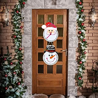 Blulu Christmas Wall Decoration Hanging Snowman Advent Calendar Santa Claus for Indoor/Outdoor Holidays, Christmas Door Hanger Sign Days Until Christmas Countdown