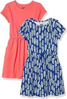 Amazon Brand - Spotted Zebra Girls' Knit Short-Sleeve...