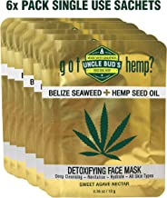 Belize Seaweed Detoxifying Face Mask with Pure Hemp Seed Oil – 6 Pack Bundle