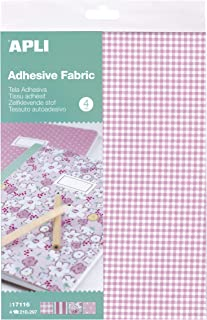 APLI Kids - Tela adhesiva tonos rosa 4 hojas