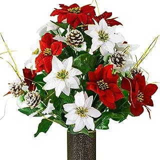 Best silk flowers for grave vases Reviews
