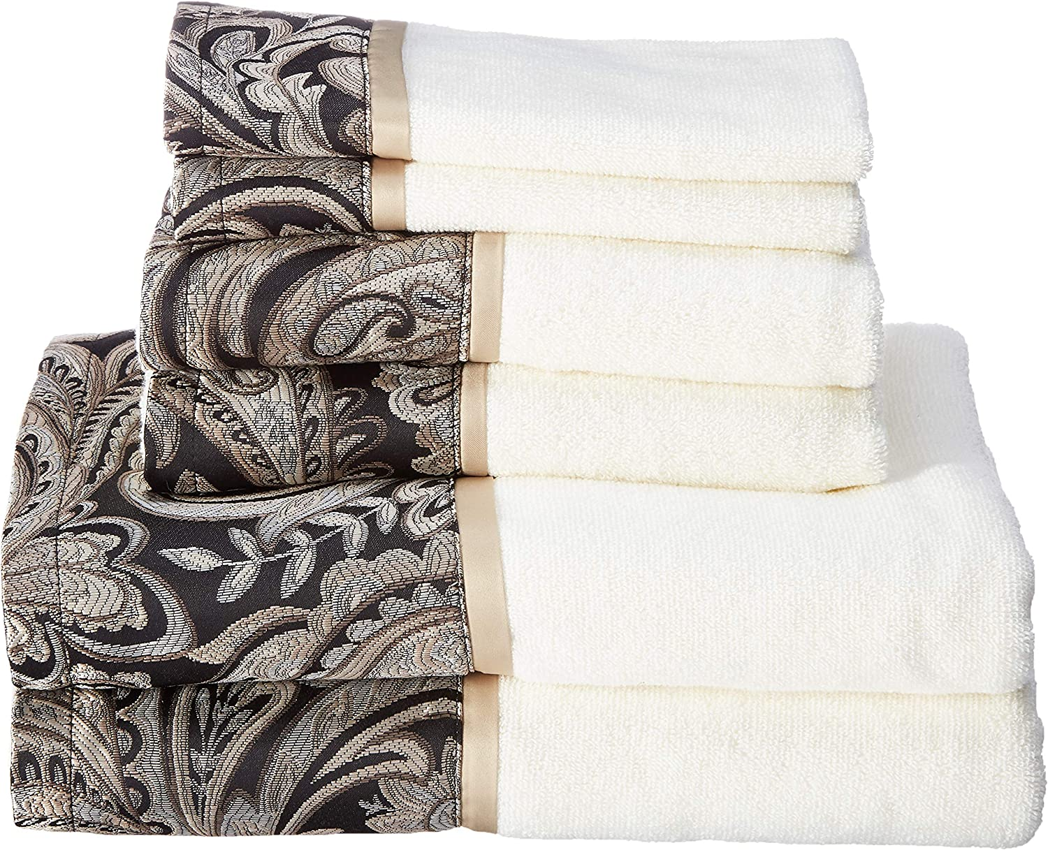 Madison Park Aubrey Towel Set, Black