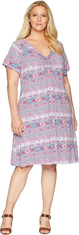 Plus Size Stamped Geo Emma Dress