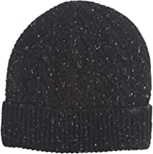 Dockers Men's Cable Knit Beanie Hat, Black, One Size