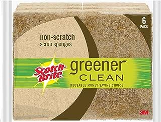 Scotch-Brite Greener Clean Natural Fiber Non-Scratch Scrub Sponge, 6 Scrub Sponges