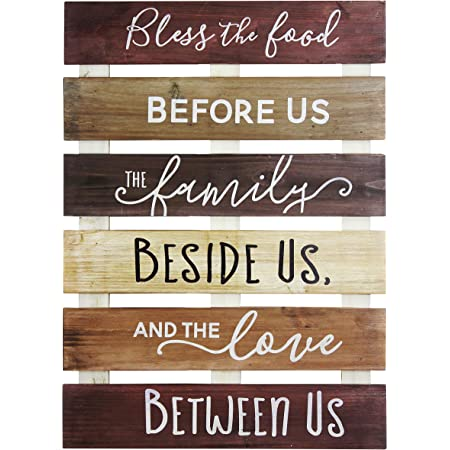 Amazon Com Elegant Signs Bless The Food Before Us Sign Wood Sign Kitchen Wall Decor Wood Kitchen Sign 11 X 14 Inch Home Kitchen