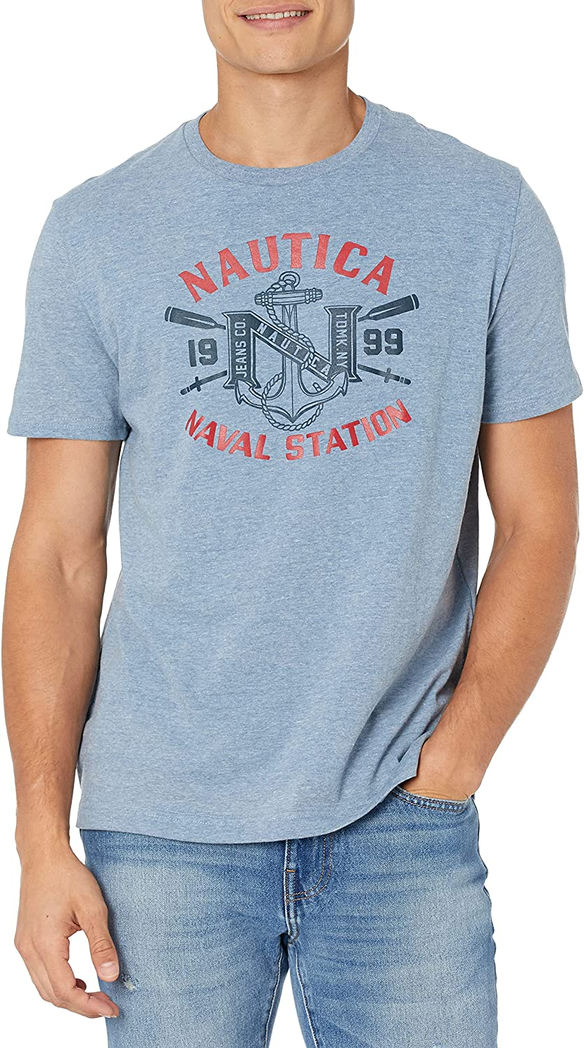 Nautica Jeans Co. Men's Selling New arrival rankings Graphic Naval T-Shirt Station