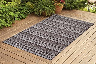 Benissimo Indoor Outdoor Rug Stripes Collection Non-Skid, Natural Sisal Woven and Jute Backing Area Rugs for Living Room, ...
