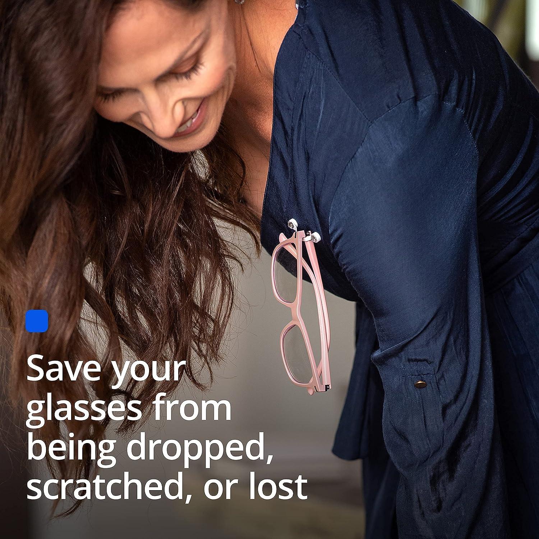 Readerest Magnetic Eyeglass Holders (2 Pack), Made in USA (Stainless Steel & Gunmetal Black)