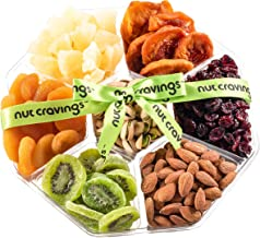 Nut Cravings Holiday Fruit and Nuts Gift Basket   Extra-Large Variety Of 7-Section Gourmet Prime Assorted Dried Fruit tray   Great for Thanksgiving, Christmas, Mothers & Fathers Day