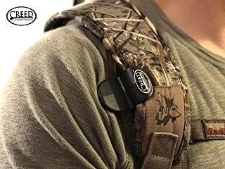 Sling Saddle, By Creed Outdoor Products, Carry Your Rifle HANDS FREE, Easily Hooks to your Rifle Sling and holds your gun securely to your body.