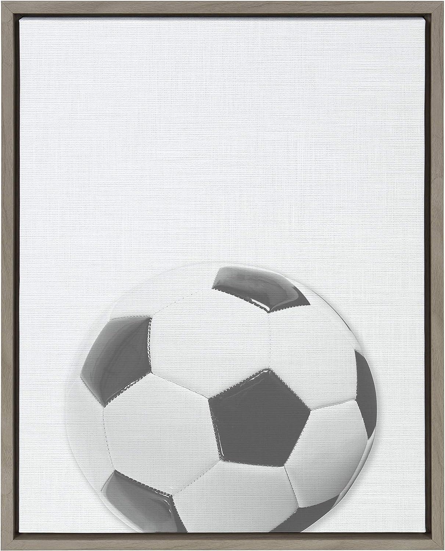 Max 67% OFF DesignOvation Sylvie Soccer Ball Max 50% OFF 18x24 PortraitFramed Canvas