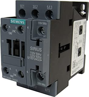 SIEMENS 3RT2028-1AK60 SIRIUS 3 POLE 38 AMP 120 VOLT AC CONTACTOR - 1NO+1NC AUXILIARY CONTACT
