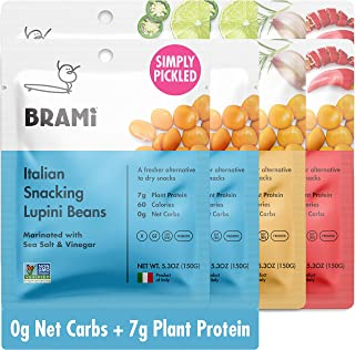 Sponsored Ad - BRAMI Lupini Beans Snack, Variety Pack | 7g Plant Protein, 0g Net Carbs | Vegan, Vegetarian, Keto, Plant Ba...