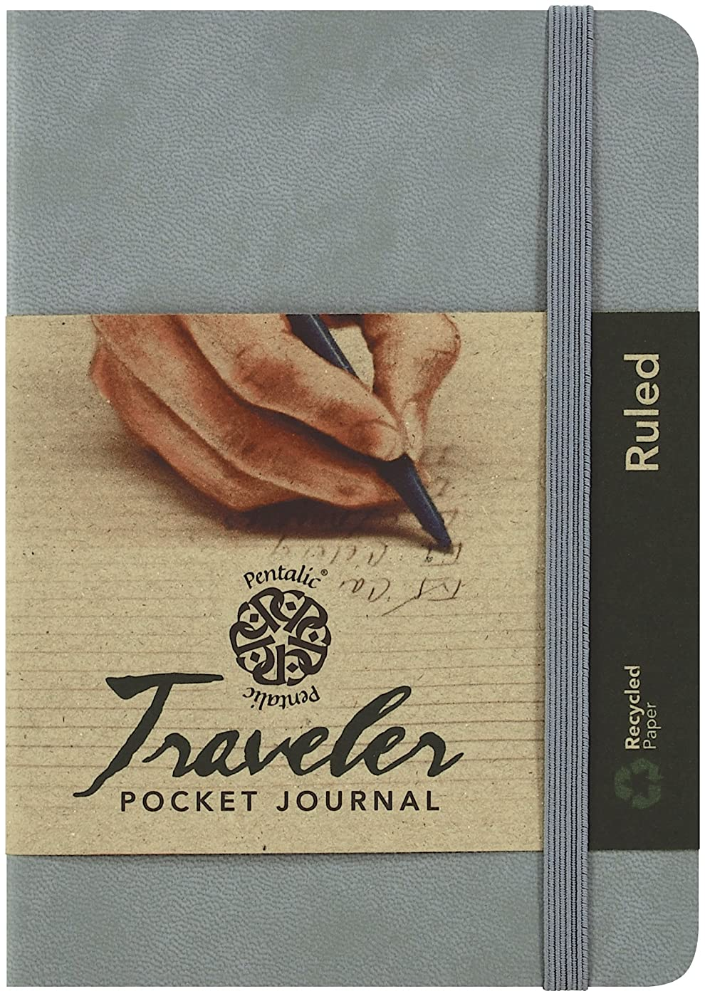 Pentalic Ruled Traveler Pocket Journal, 6 by 4-Inch, Gray by C2F, Inc.