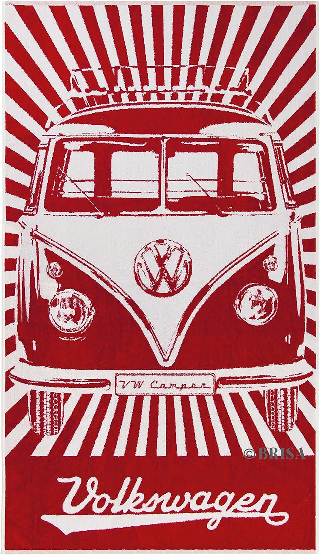 VW Collection by BRISA VW VW VW T1 Bus Strandtuch - Rot B01D4VN7BU 4a2fe4