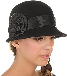 Womens Style Vintage 100% Laine Cloche Seau Cloche