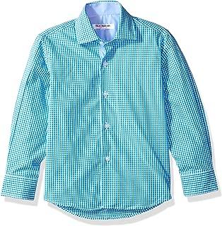 Isaac Mizrahi Boys' Cotton Gingham Button Down