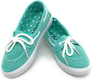 EASY21 Girls Flat Canvas Casual Kids Children Sneaker Shoes