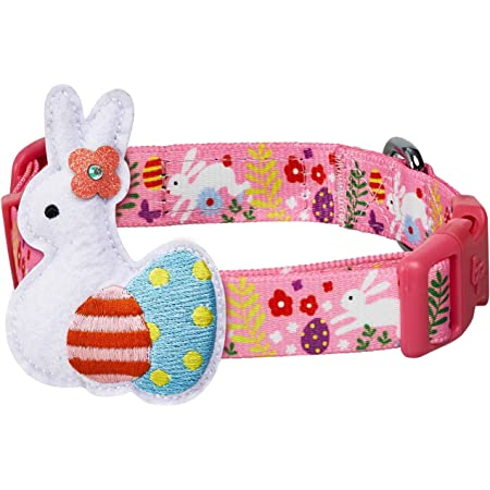Pink Dog Collar Bunny Dog Collar Easter Dog Collar