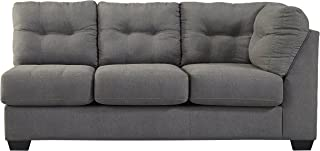 Benchcraft 4520067 Maier Right Arm Facing Sofa, Charcoal