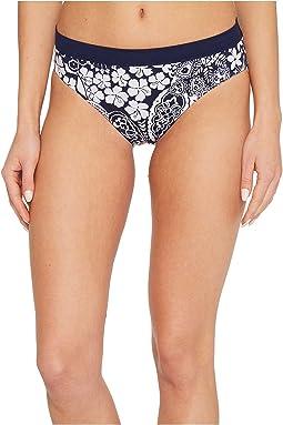 Tommy Bahama - IslandActive Paisley Paradise Reversible High-Waist Bikini Bottom