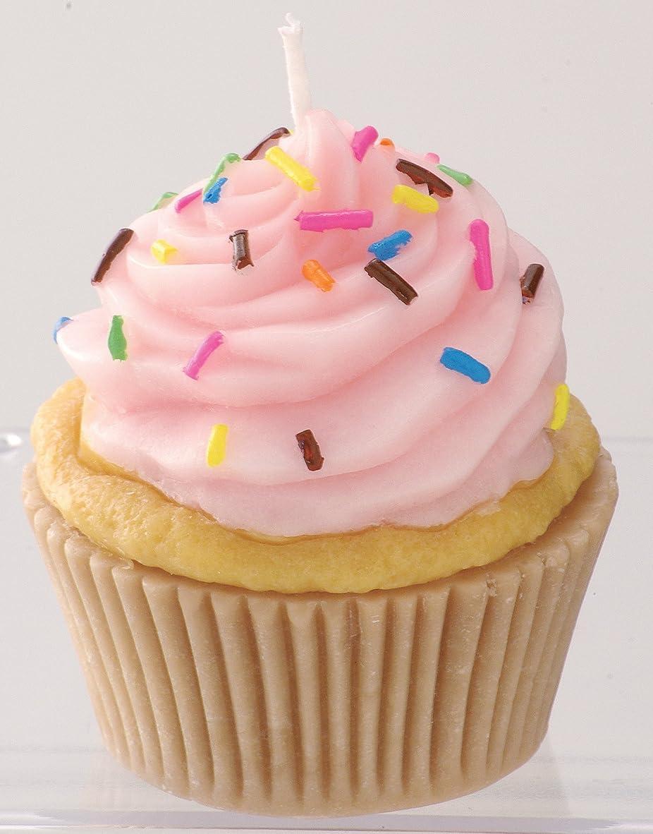 バーガー効能実用的カメヤマキャンドルハウス 本物そっくり! アメリカンカップケーキキャンドル ストロベリークリーム ストロベリーの香り