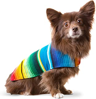 Handmade Dog Poncho from Mexican Serape Blanket - Dog Clothes - Coat - Costume - Sweater - Vest