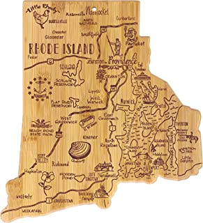 Totally Bamboo Rhode Island State Destination Bamboo Serving and Cutting Board