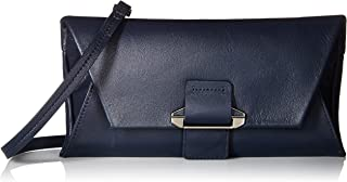 Womens Leather Crossbody Wallet With Detachable Shoulder Strap Ruby Envelope