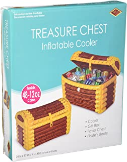 Inflatable Treasure Chest Cooler (holds apprx 48 12-Oz cans) Party Accessory (1 count) (1/Pkg)