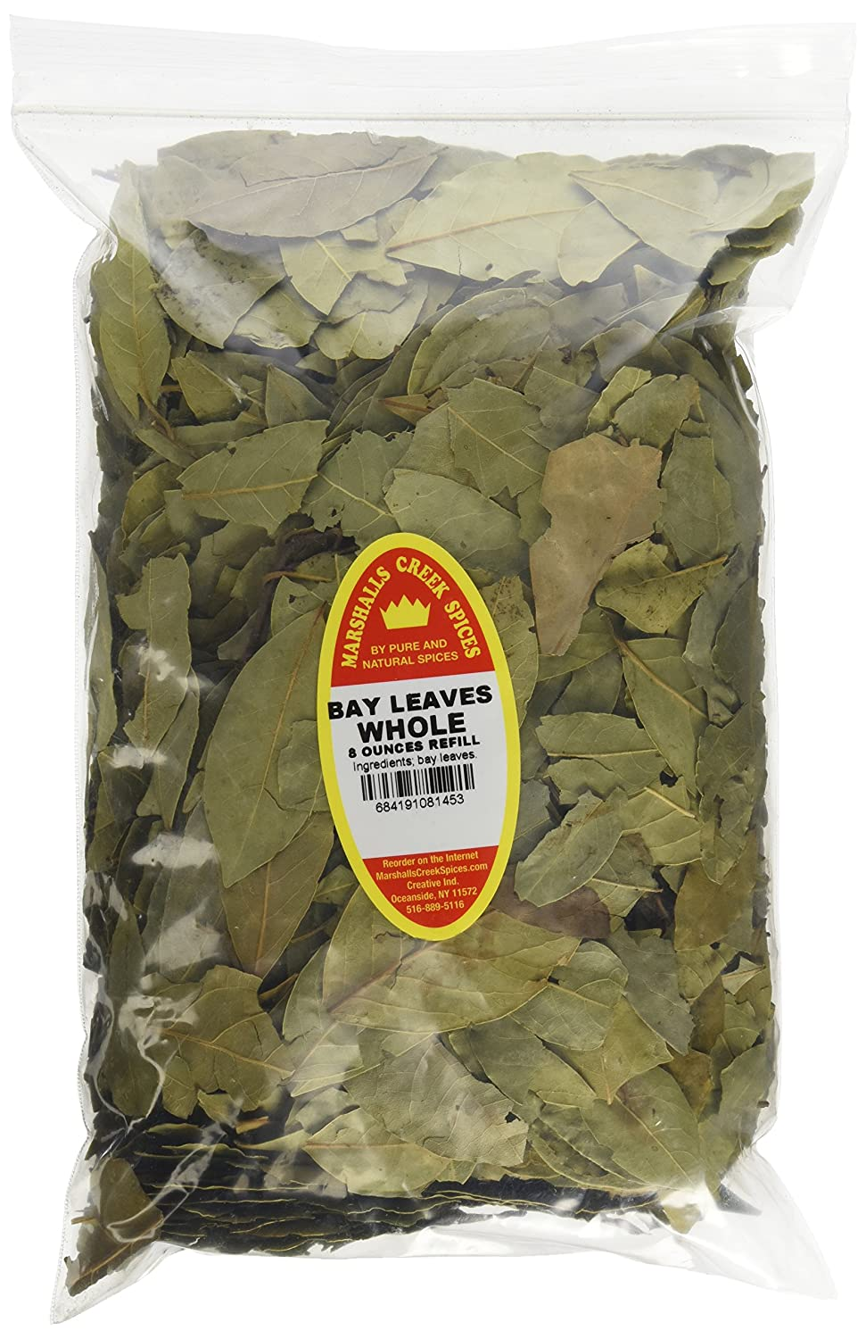 Marshall's Creek Spices Family Size Bay Refill Max Philadelphia Mall 62% OFF Whole Leaves