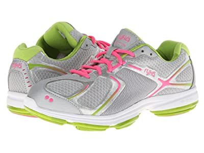 Ryka Devotion (Chrome Silver/Lime Blaze/Atomic Pink 1) Women