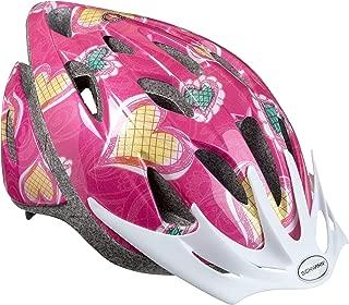 Best schwinn thrasher girls' bicycle helmet, pink hearts, child Reviews