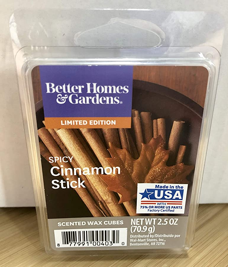 Better Homes and Gardens Spicy Cinnamon Stick Scented Wax Cubes