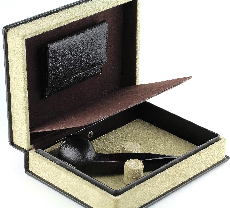 Mr. Brog Elegant Full Grain Leather shopping Tobacco - Case Pipe Travel Special sale item B
