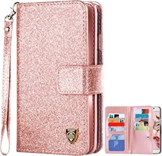 Galaxy Note 5 Case, Note 5 Case, BENTOBEN Glitter Sparkle Bling Flip PU Leather Credit Card Holder Cash Pocket Wristlet Protective Wallet Case for Samsung Galaxy Note 5/SM-N920, Rose Gold