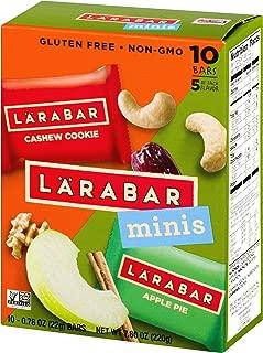 Larabar Minis Gluten Free Bar Variety Pack, Cashew Cookie/Apple Pie, 10-0.78 oz. Bars, Vegan, Dairy Free, Gluten Free Snacks