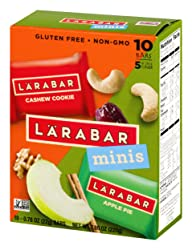 Larabar Minis Gluten Free Bar Variety Pack, Cashew Cookie/Apple Pie, 10-0.78 oz. Bars, Vegan, Dairy
