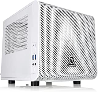 Thermaltake Core V1 Snow Edition Mini ITX Chassis - Caja de ordenador , blanco