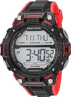 Armitron Sport Men's Digital Chronograph Resin Strap Watch, 40/8455
