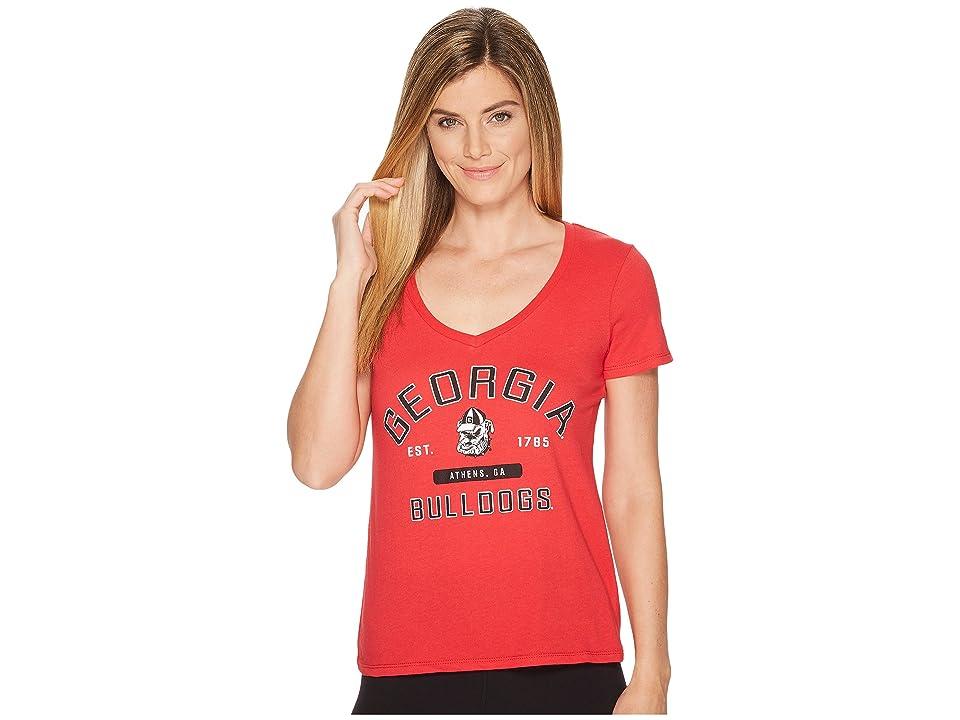 Champion College Georgia Bulldogs University V-Neck Tee (Scarlet) Girl